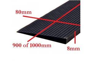 Rubber drempelhulp 0,8cm zwart(tweedehands) art.nr: 406080