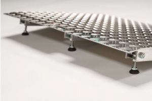 Verstelbare aluminium drempelhulp 4,5 - 6,5 cm (Tweedehands)