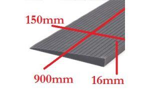 Rubber drempelhulp  1,6cm grijs(tweedehands) art.nr: 306160
