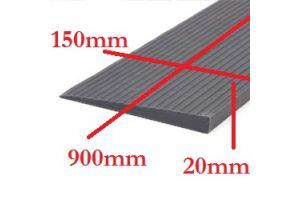 Rubber drempelhulp 2cm grijs(tweedehands) art.nr: 306200